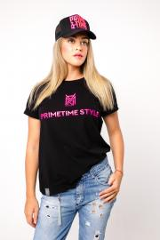 Футболка женская розовый принт PRIMETIME STYLE